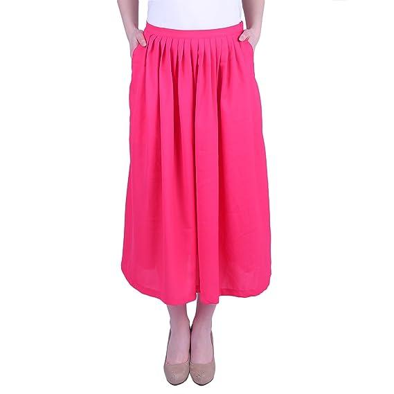 d7b762910 MISTLETOE MIA Sandra Pink Pleated Midi Skirt Pink: Amazon.in: Clothing &  Accessories