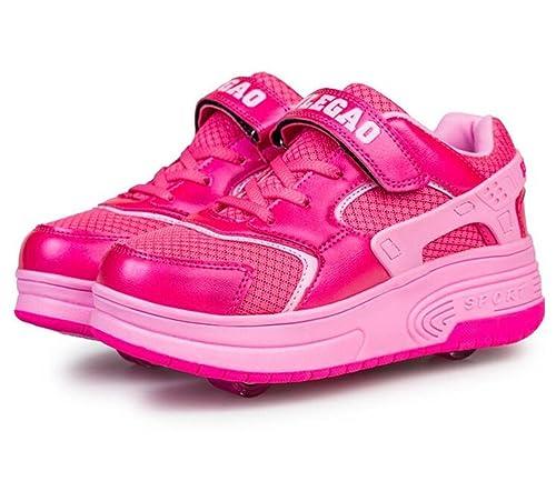 Dos Ruedas Patines Los Niños y Niñas Heelys Calzado Deportivo: Amazon.es: Zapatos y complementos