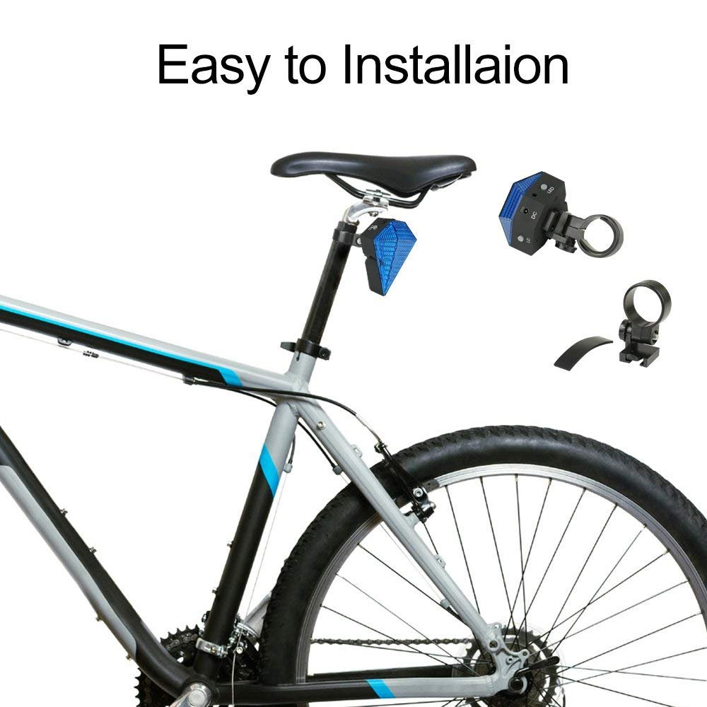 BESTSUN USB Rechargeable Bicycle Tail Lights Bike Cycling Safety Zone Tail Light 8 LED with 2 Red Safety Lines for Cycling Hiking by BESTSUN (Image #5)