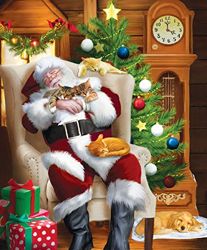 Santa and His Cats 1000 Piece Jigsaw Puzzle by SunsOut