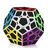 D-FantiX Carbon Fiber Megaminx 3x3 Speed Cube Smooth Magic Cube Puzzle Toys for Kids