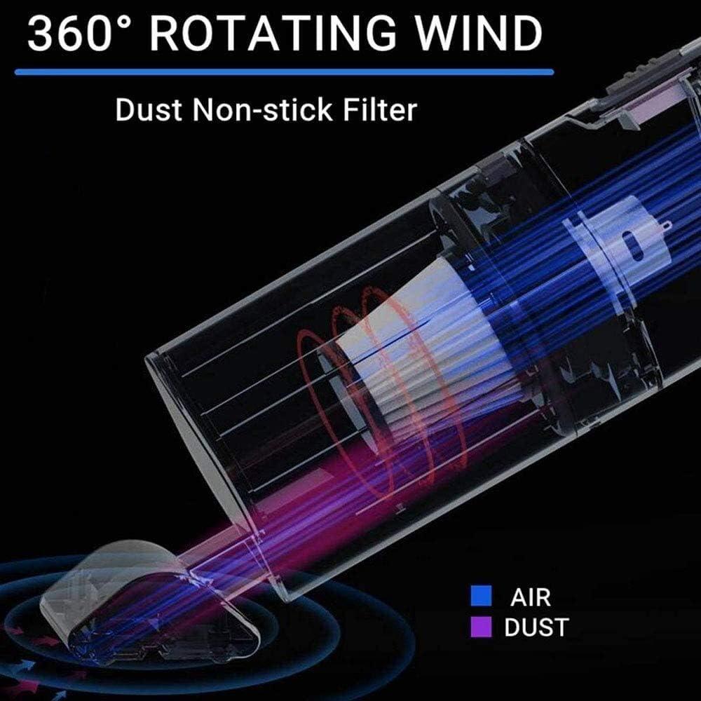 Car Aspirateur sans Fil Haute Puissance 12V 12W 4000Pa Haute Aspiration USB sans Fil et Humide Sec à Double Usage (Color : White) White