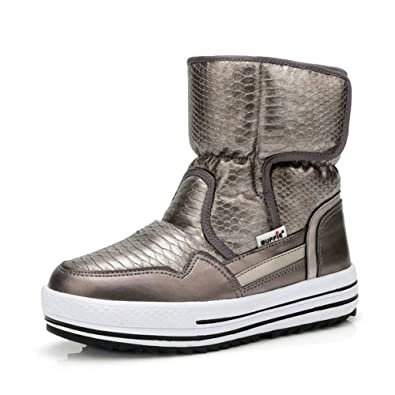 dc00d89559b67 Amazon.com   Woman Winter Shoes Female Warm Fur Water-Resistant Upper Plus  Size Fashion Non-Slip Sole Snow Boot   Shoes
