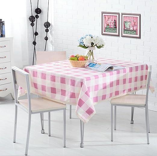 XM Pasta de algodón rosa celosía espesamiento escritorio sala de ...