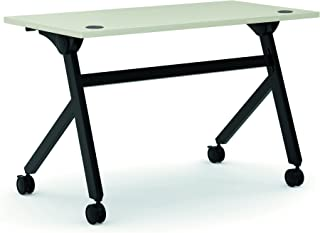product image for HON Assemble Flip Base Multi-Purpose Table, 48-Inch, Light Gray/Black (HBMPT4824P)