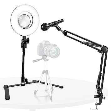 Amazon com : LimoStudio, Dimmable Ring Light Gooseneck Table