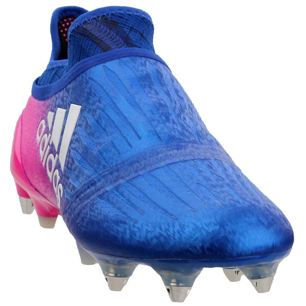 adidas X 16+ Purechaos SG Cleat - Men's Soccer 8 Blue/White/Shock Pink by adidas