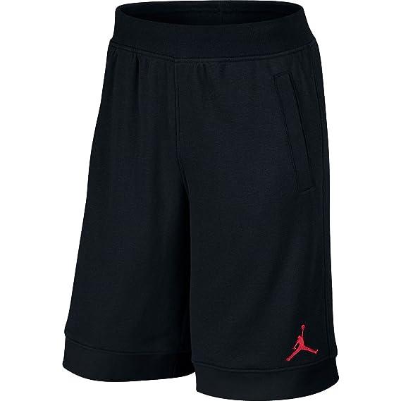fe854ad6ae1ea0 Nike Mens Jordan Fleece Shorts Black Gym Red 642453-013 Size Small ...