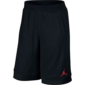 new style 00f34 ecb87 Nike Jordan Fleece Short - Pantalón Corto línea Michael Jordan para Hombre,  Color NegroRojo, Talla 4XL Amazon.es Zapatos y complementos