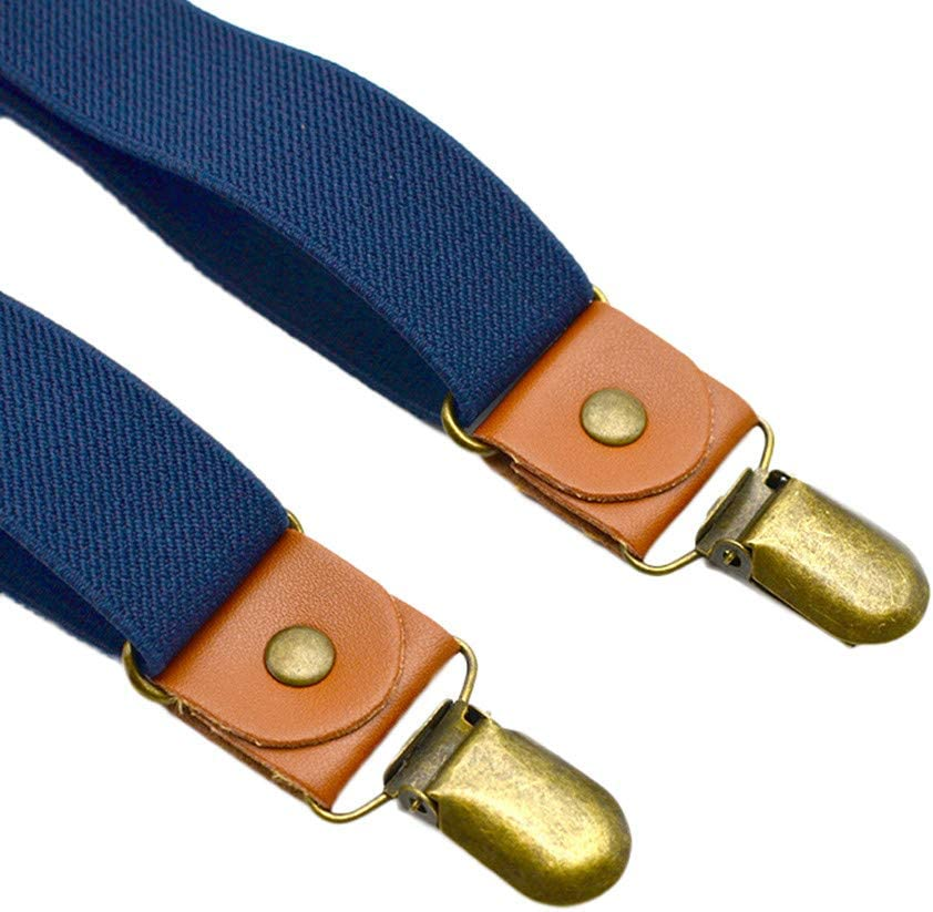 Lomsarsh Kids Baby Casual Cross Braces Suspenders and Pure Color Bow Tie Strap Clip Solid Color Hanging Pants Lead Knot Set Cross Elastic Strap