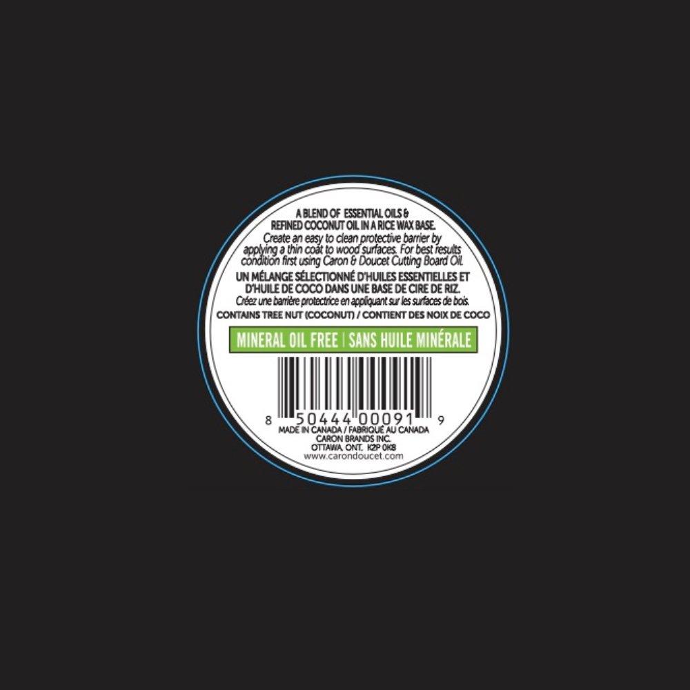 Caron & Doucet - Cutting Board & Butcher Block Bundle: 2 items - 1 Cutting Board & Butcher Block Oil, 1 Cutting Board & Butcher Block Wax. 100% Plant Based (8oz Bullet) by Caron Doucet Cuisine (Image #1)