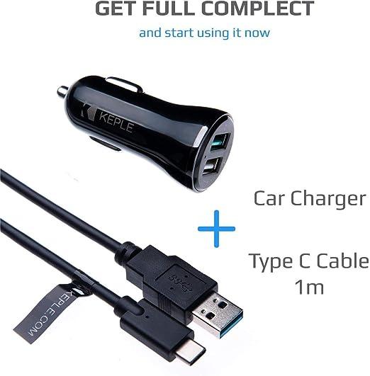 Adaptador para Coche + Cable USB 3.1 de Alta Velocidad Compatible ...