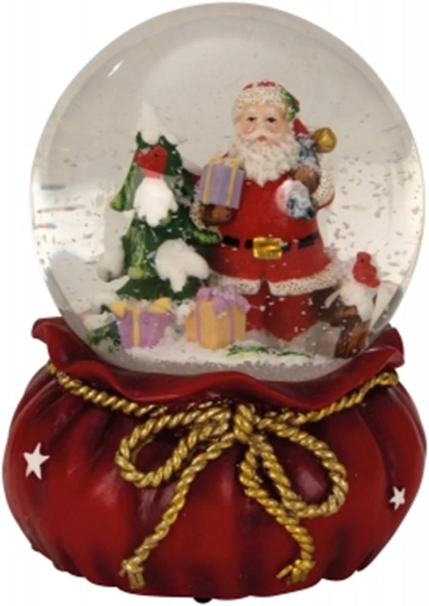 Schneekugel Spieluhr mit LED-Licht 23 cm Musik Weihnachtslieder 742186 formano