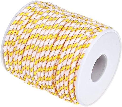 Ruby - Bobina de cordón de nylon multicolor cuerda de nylon para hacer bisutería muchos colores para elegir (BLANCO/ESPAÑA): Amazon.es: Hogar