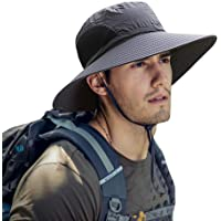 ZIQIAN Mens Sun Hat Summer Unisex Sun UV Protection Bucket Hat Outdoor Waterproof Wide Brim Hat with Breathable Mesh and…
