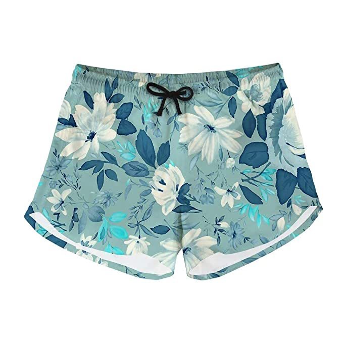 APPCLL Fashion Swim Trunks Mens Board Shorts Pink Flowers and Pineapple Print Quick Dry Shorts
