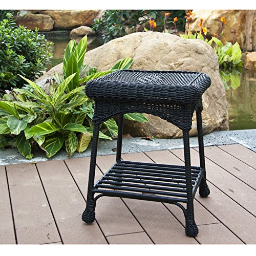 amazoncom wicker lane outdoor white wicker patio furniture end table patio side tables patio lawn u0026 garden - Resin Wicker Patio Furniture
