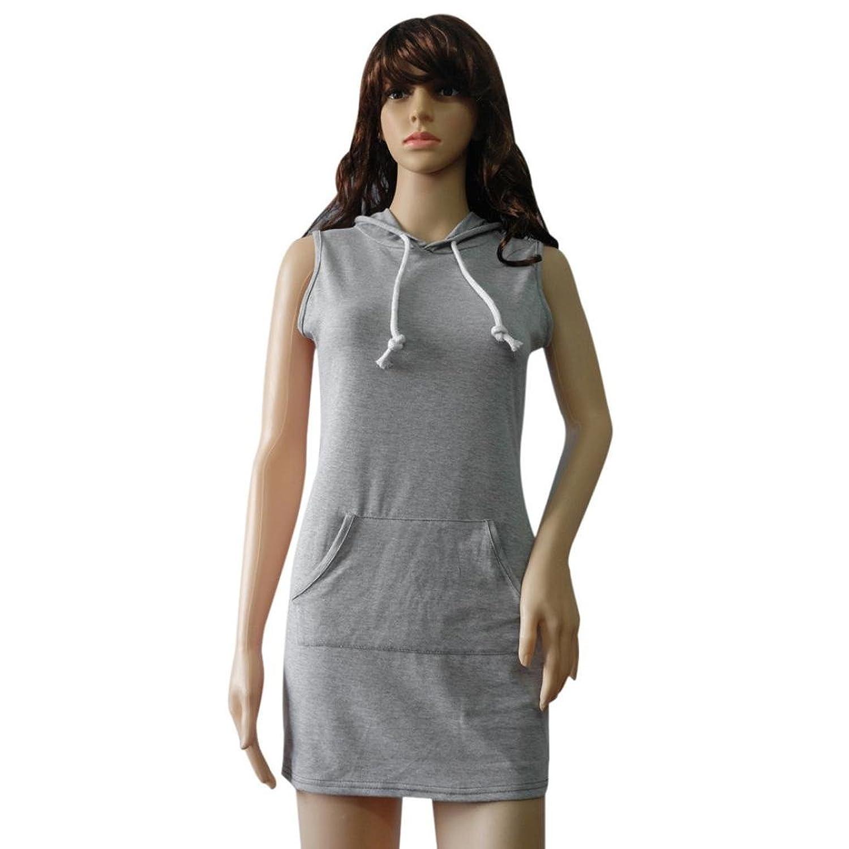 Casual Kleid Damen Elegant, Manadlian Vintage Grau Strandkleid ...