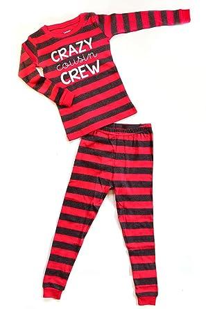 6aca958e1 Amazon.com  Pajamas Boy or Girl Crazy Cousin Crew - Kids Cousin ...
