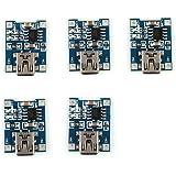 HiLetgo 5PCS TP4056ミニUSB 1Aリチウム バッテリチャー ジャーモジュール 充電ボード 4.5V-5.5V [並行輸入品]