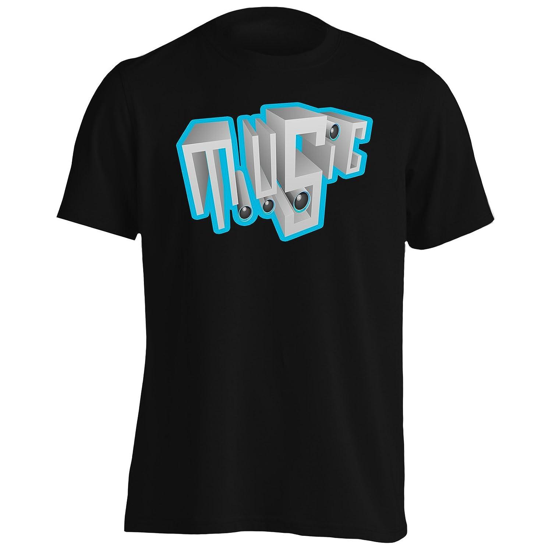 I Love You Music DJ Novedad Funny Vintage Art Camiseta de los hombres a165m: Amazon.es: Ropa y accesorios