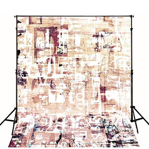 (Retro Backgrounds for Photo Studio Old Hat Letter Printed Wall Photography Backdrop Fabric Cloth Digital Booth Shoot Wallpaper)