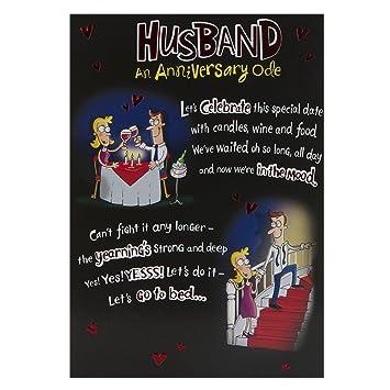 hallmark anniversary card for husband funny poem medium amazon