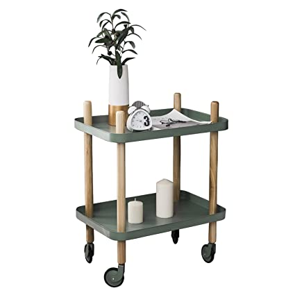 wholesale dealer d6874 b2d91 Sofa Side Table with Wheels, Metal Tray End Table Living ...