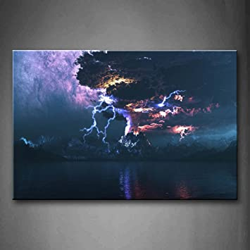 Amazon First Wall Art The Lightning And Volcano Wall Art