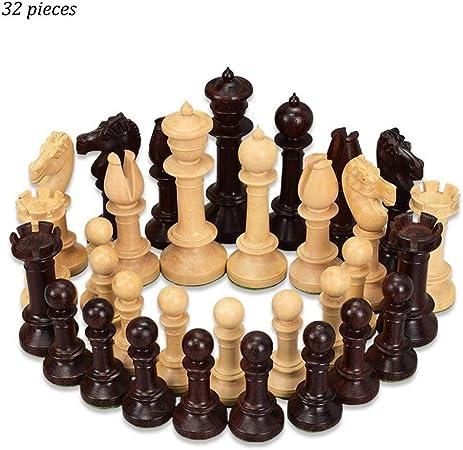 AILI Juegos Tradicionales Ajedrez Creative 34 Piezas Beige y marrón Damas de Madera Piezas de ajedrez Niños Desarrollo Intelectual Aprender Juguetes Damas de ajedrez de Madera Juegos de Mesa Ajedrez: Amazon.es: Hogar