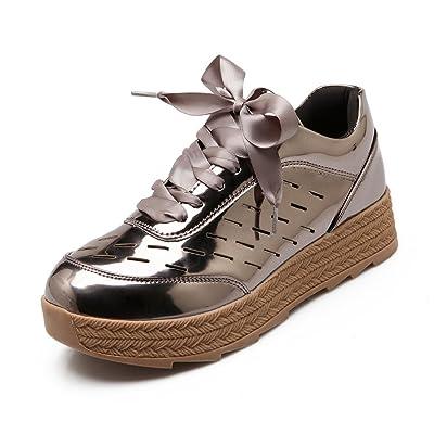 AdeeSu Womens Bandage Platform Microfiber Fashion Sneakers