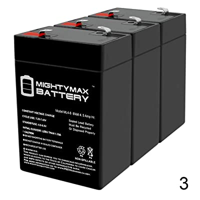 Mighty Max Battery 6V 4.5Ah UPS Battery for Vision CP645-3 Pack Brand Product: Toys & Games