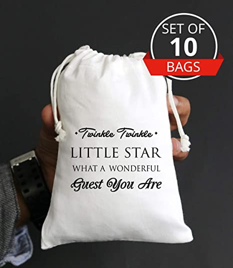 Amazon.com: Twinkle Twinkle Twinkle Little Star Favor Bolsas ...