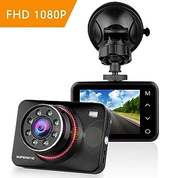 SuperEye Dashcam Cámara de Coche Full HD 1080P Cámara para Coche Grande Ángulo de 170°