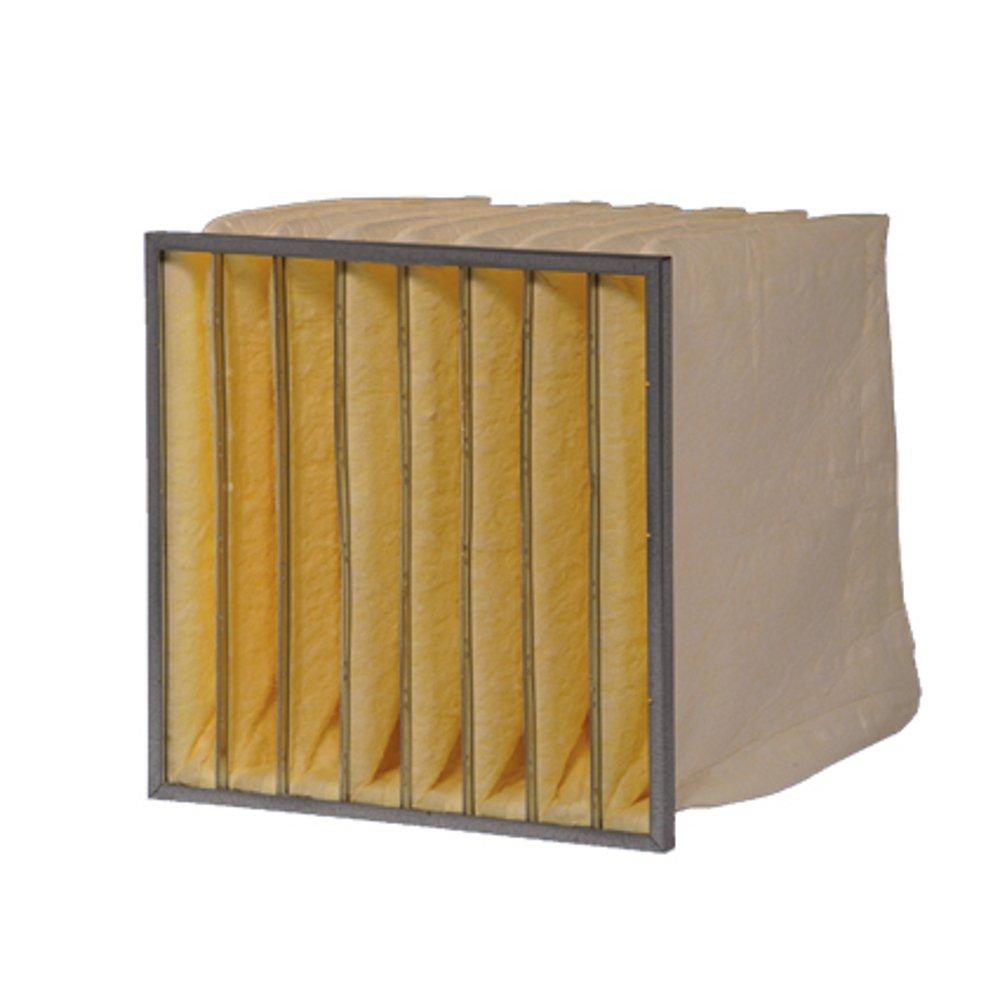 4 Einzeltaschen Mikroglasfaser DELBAG Taschenfilter MultiSack G95 F9 287x287x600 Metallrahmen