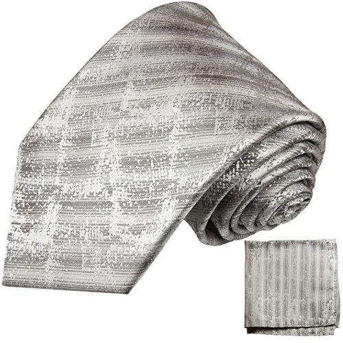 Cravate homme argent gris ensemble de cravate 2 Pièces ( longueur 165cm )