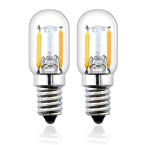Bonlux T22 E14 2W LED Filamento Vintage Edison Bombilla para frigorífico, nevera, microondas,
