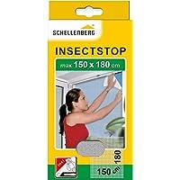 Schellenberg 20403 nylon horrengaas, muggen en insectengaas inclusief bevestigingstape, bevestiging zonder te boren, 150…