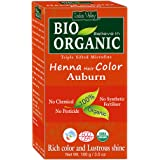 Indus Valley BIO Organic Auburn Henna Hair Color For Grey Hairs-100gm