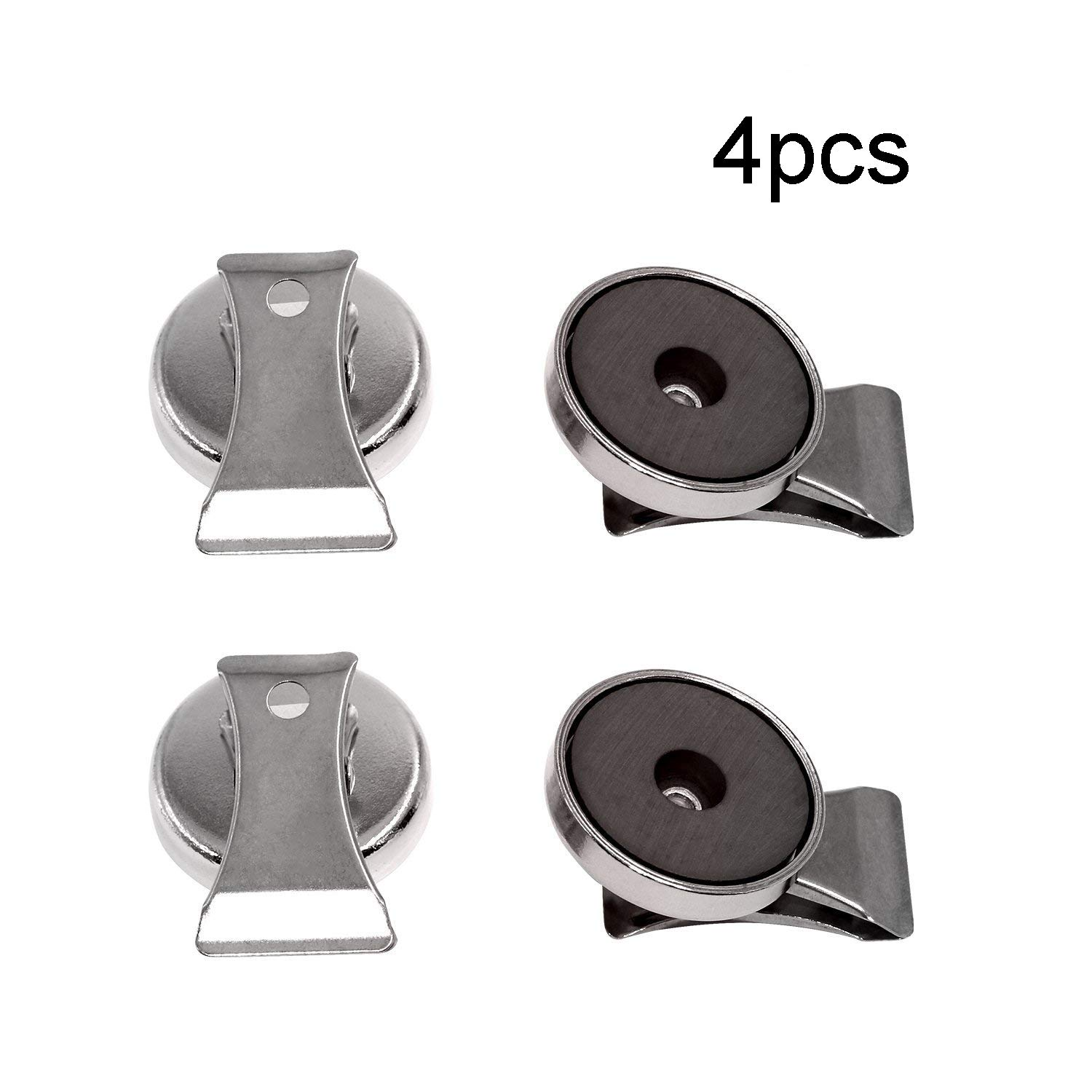 NSpole Heavy Duty Neodymium Magnetic Clip Clamp Refrigerator Magnet (15lb(4 pack)) by NSpole