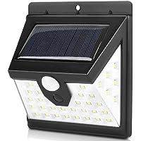 Luminária Solar Parede 40 Led Sensor Presença 3 Funções Energia Lampada