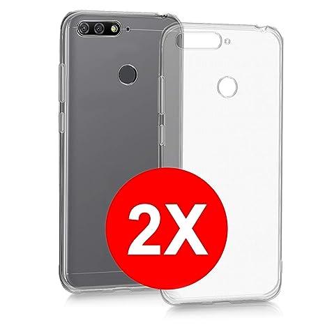 069851ecaed TBOC 2X Funda de Gel TPU Transparente para Huawei Honor 7A (5.7 Pulgadas) [