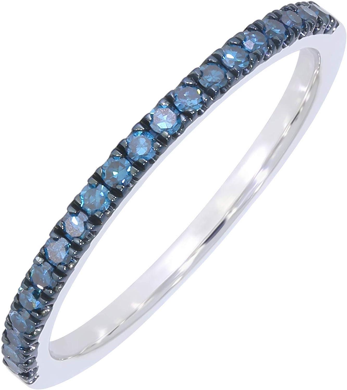 0.20CT BLUE DIAMOND CLUSTER RING