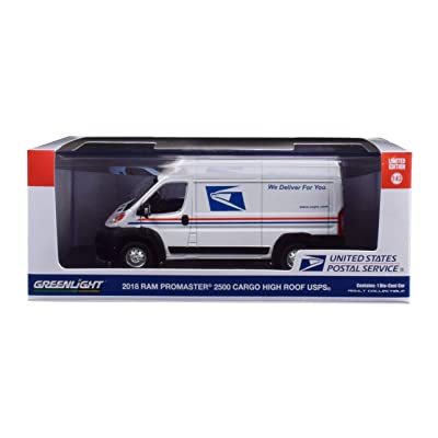 Greenlight 86154 1: 43 2020 Ram Promaster 2500 Cargo High Roof - United States Postal Service (USPS) - New Tooling, Multi: Toys & Games