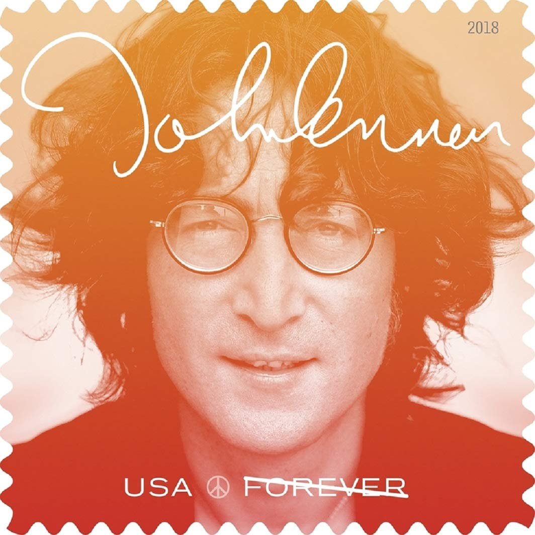 John Lennon Commemorative Forever Postage Stamps by USPS Imagine(2 Sheets of 16)