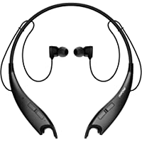 Mpow Jaws V4.1 Bluetooth Headphones Wireless Neckband Headset Stereo Noise Cancelling Earbuds w/Mic-Black