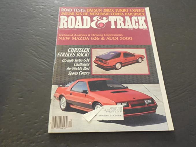 Road Track Dec 1982, Datsun 280ZX Turbo, Jaguar XJ-S