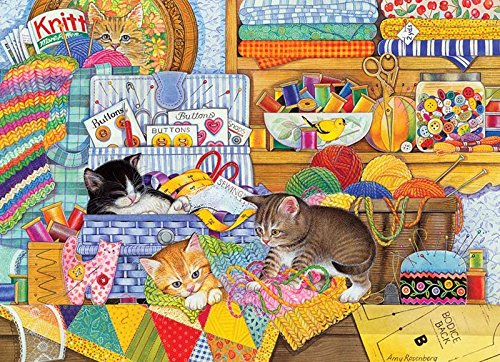 Cobble Hill Crafty Kittens Jigsaw Puzzle