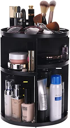 ATPWONZ Maquillaje Organizador de 360 Grados Rotatorio Bandeja de cosméticos Caja de Almacenamiento Multifuncional 8 Capas para Maquillaje y Accesorios (Negro): Amazon.es: Hogar