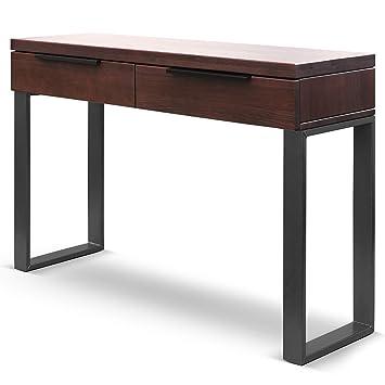 COMIFORT Mueble Recibidor Consola Moderna Mesa De Entrada De Madera De Roble Macizo, Colección Alfa, Estilo Moderno Loft Industrial, 1200 X 380 X 800 ...